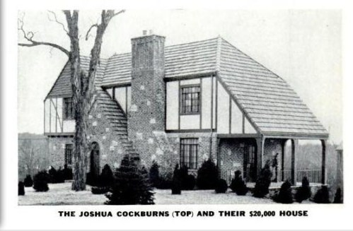 The Cockburn's house in Edgemont Hills  1937
