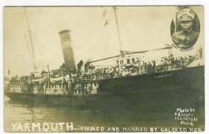 The Yarmouth had a heavy list to starboard as it carried the last legal shipment of liquor out of New York Harbor on January 17th, 1920